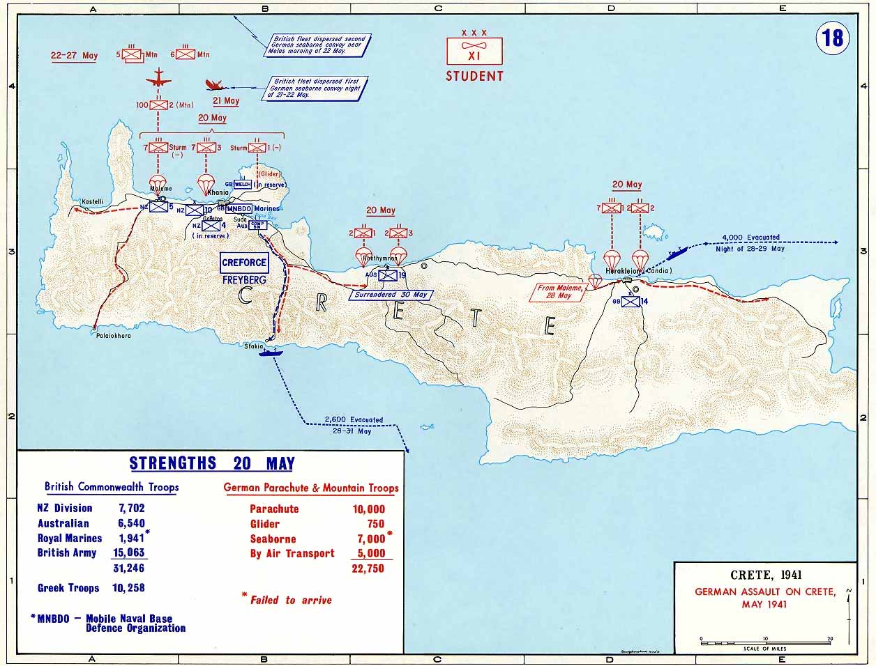 Battle Of Crete Operation Mercury Maps Historical Resources - Germany map during world war 2
