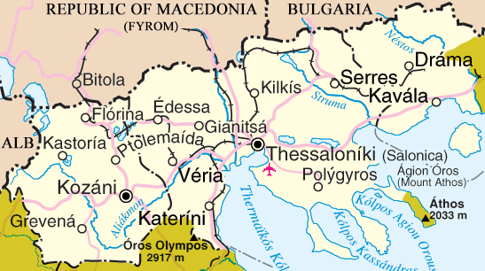 map of macedonia greece. Macedonia has a population of