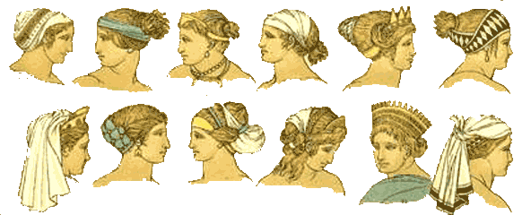 You can see here the Greek hairstyles from the Ancients
