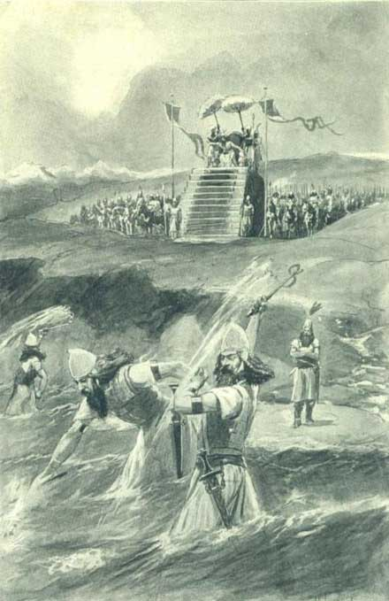 King Xerxes lashes the seaReal Xerxes