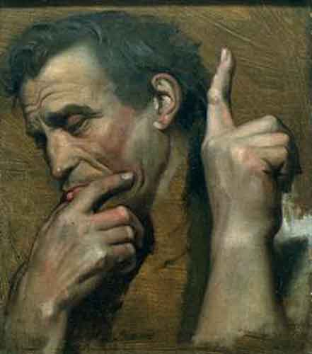 faces, hands, ingres, thinking