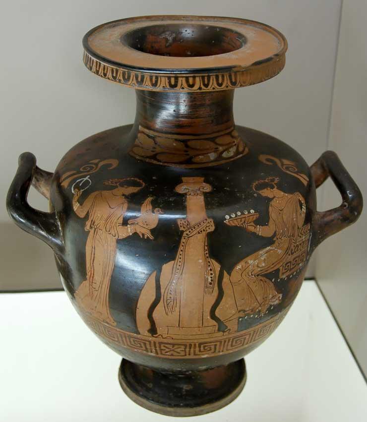 Hydria greek vase vases sale for Ancient greek pottery decoration