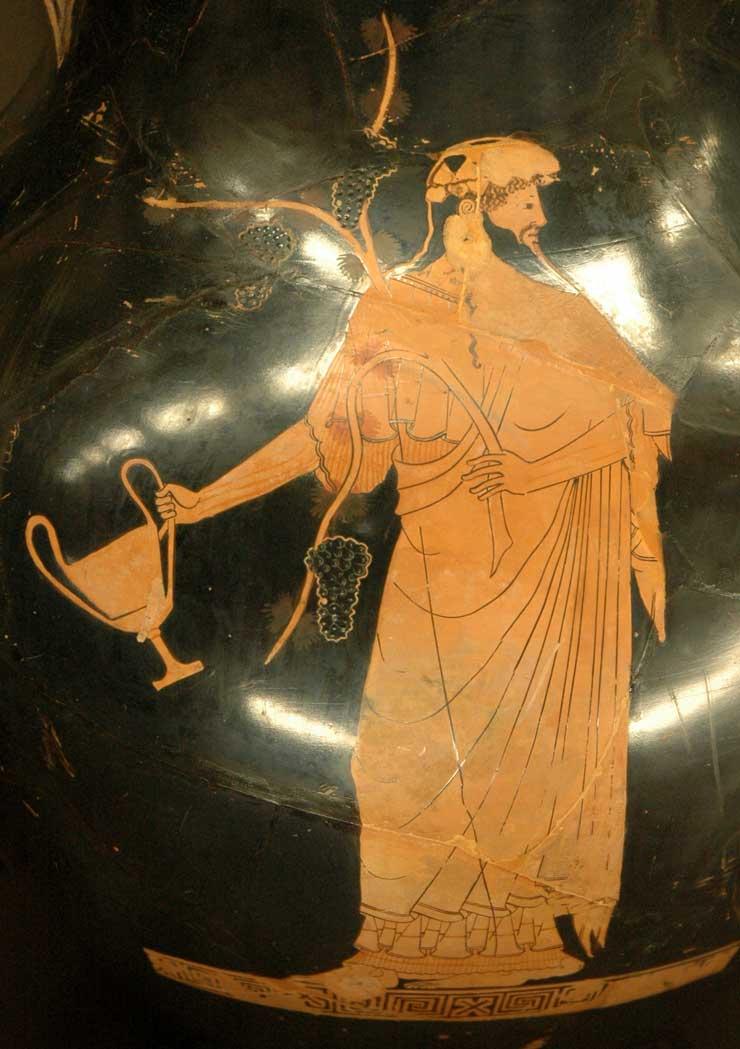 Dionysos, kantharos, Louvre CA2981-