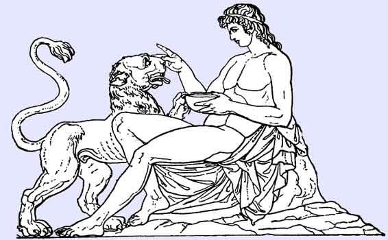 Dionysus med panter