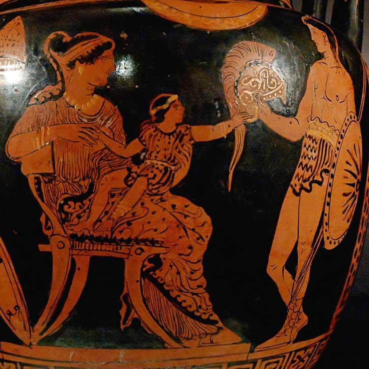 Hector Andromaque et Astyanax