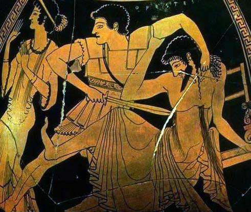 clytemnestras murder of agamemnon in the story of agamemnon Agamemnon has committed both murder and adultery in clytemnestra's eyes agamemnons aggravation of clytemnestra, whether deliberate or accidental was a reason for his.