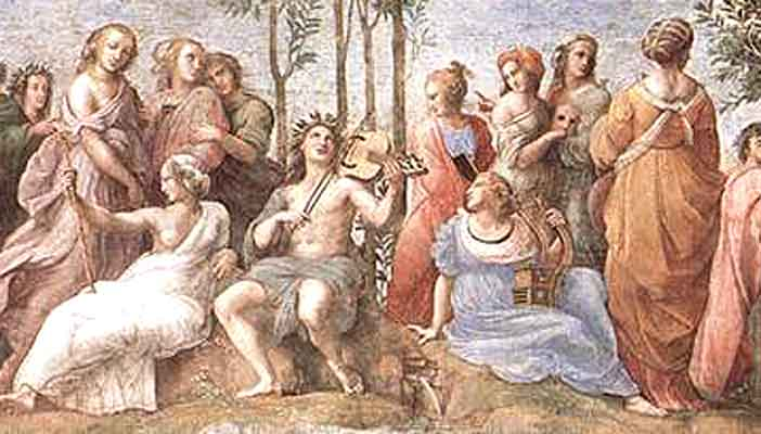 Apollo and the Muses; by Raphael