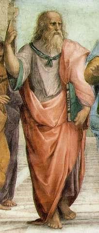 Plato Pointing toward ideas