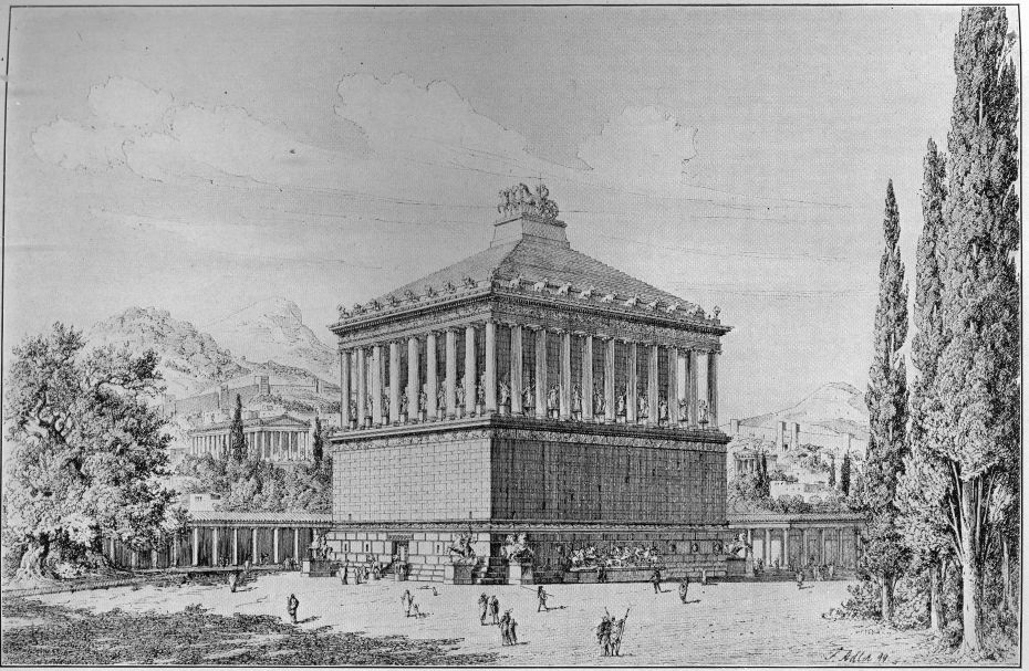 the mausoleum at halicarnassus as restored by friedrich adler